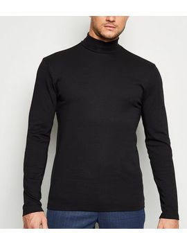 Black Long Sleeve Roll Neck Top by New Look