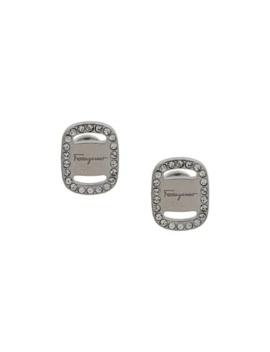 Embellished Logo Earrings by Salvatore Ferragamo