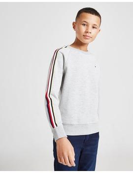 Tommy Hilfiger Stripe Tape Crew Sweatshirt Junior by Tommy Hilfiger