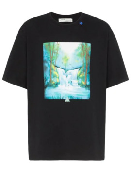 T Shirt Met Waterval Print by Off White