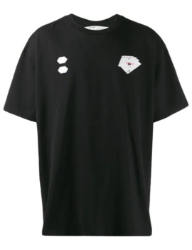 T Shirt Met Kaart Print by Off White