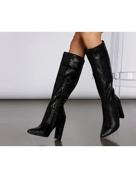 Snake Attraction Knee High Boots by Windsor