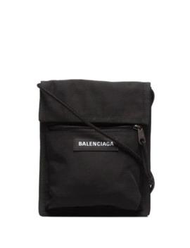 Black Explorer Messenger Bag by Balenciaga