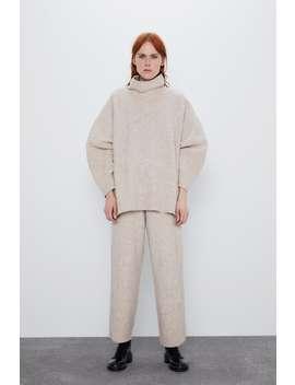 KastenfÖrmiger Pullover Mit Wolle by Zara
