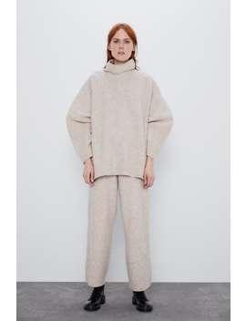 Weite Hose Mit Wolle by Zara