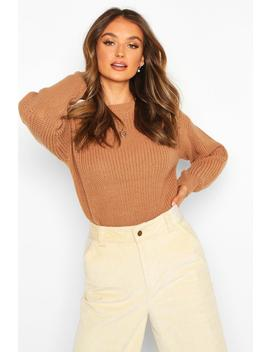 Fisherman Crew Neck Jumper by Boohoo