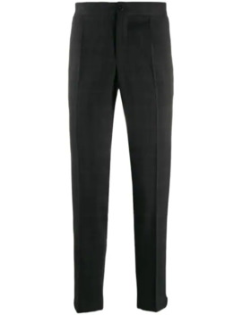 Tapered Leg Checked Trousers by Incotex