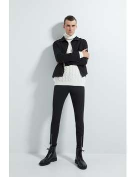 Slim Fit Trousers With Zips by Zara