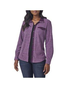 Women's Knit Fleece Shirt Jacket by Lee Riders