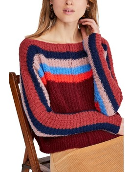 See The Rainbow Stripe Knit Sweater by Free People