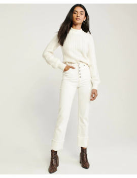Mock Neck Cable Sweater by Abercrombie & Fitch