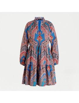 A Line Poplin Dress In Ratti® Mediterranean Paisley Print by A Line Poplin Dress In Ratti