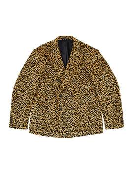 Leopard Corduroy Double Breasted Sport Coat by Noah Nyc