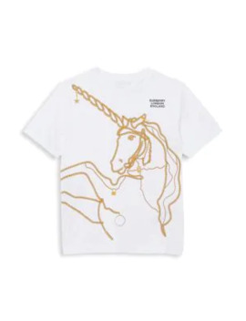 Little Girl's & Girl's Chain Unicorn Graphic T Shirt by Burberry