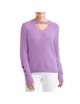 No Boundaries Juniors' Chenille Mock Gigi Sweater by No Boundaries