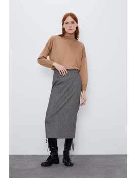 Wool And Tencel™ Sweater by Zara
