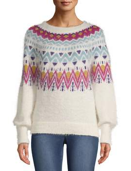 Time And Tru Fair Isle Sweater Women's by Time And Tru