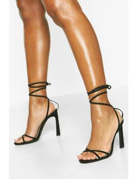 Ankle Wrap Stiletto Sandals by Boohoo