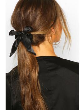 Bow Detail Hair Scrunchie by Boohoo