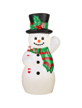 "24"" Lighted Vintage Snowman Accent By Ashland® by Ashland"