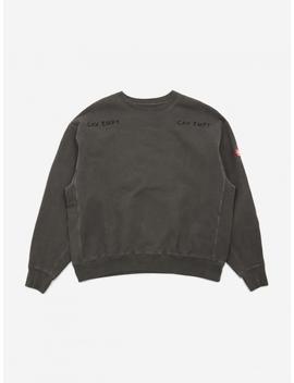 C.E Cav Empt Overdye Squad Crewneck Sweatshirt   Charcoal by Cav Empt