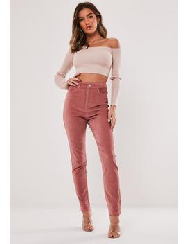 Blush Cord Co Ord Sinner High Waisted Jeans by Missguided