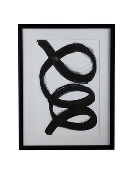 Mo Drn Scandinavian Swirl Framed Wall Art by Mo Drn