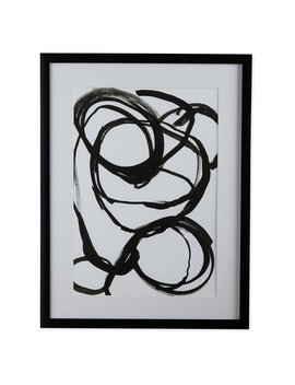 Mo Drn Scandinavian Splattered Swirl Framed Wall Art by Mo Drn