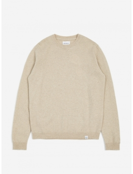 Sigfred Lambswool Jumper   Oatmeal Melange by Norse Projects