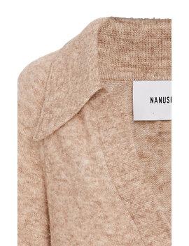 Bambi Collared V Neck Sweater by Nanushka