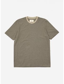 1x1 Stripe Shortsleeve T Shirt   Charcoal Melange Stone by Folk