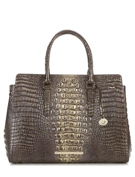Melbourne Collection Finley Crocodile Embossed Carryall Bag by Brahmin