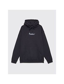 Butter Goods Puff Print Logo Hooded Sweatshirt Navy by Très Bien