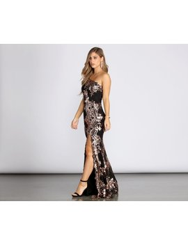 Talia One Shoulder Formal Sequin Dress by Windsor