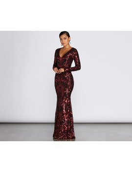 Cecile Sequin Formal Gown by Windsor