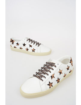 Leather Low Sneakers by Saint Laurent