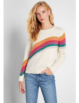 Rainbow Request Pullover Sweater by Modcloth