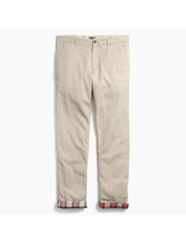 Flannel Lined Chino Pant by J.Crew