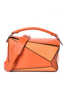 Loewe Calfskin Medium Puzzle Bag Orange Multi by Loewe