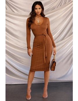 Out For The Night Dress   Rust by Miss Lola
