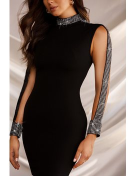 Look Of Luxe Dress   Black by Miss Lola