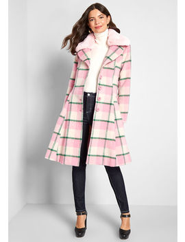 Cover Me Plaid Coat by Hell Bunny