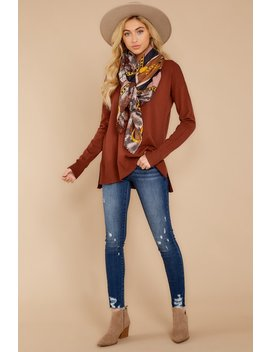 Through Union Station Copper Sweater by Staccato