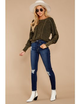 Cool It Now Olive Sweater by Storia