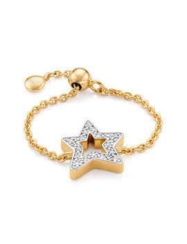 Alphabet Star Adjustable Friendship Diamond Ring   Limited Edition by Monica Vinader