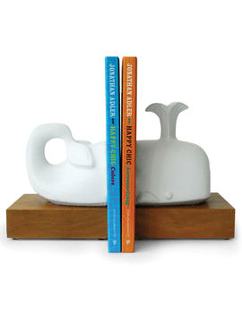 Menagerie Whale Bookend Set by Jonathan Adler