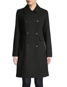 Double Breasted Wool Blend Coat by Vince Camuto