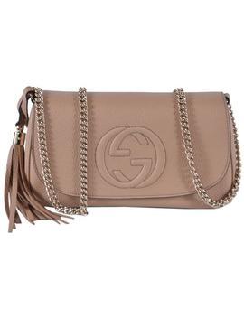 Soho New Tassel Purse Beige Leather Cross Body Bag by Gucci