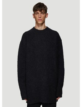 Oversized Textured Knit Sweater In Grey by Maison Margiela