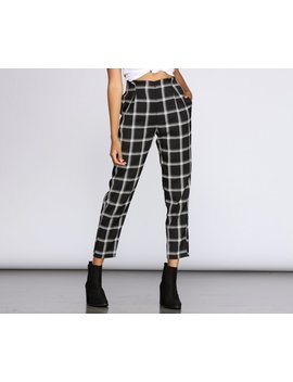 Plaid Perfection High Waist Pants by Windsor